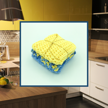 Load image into Gallery viewer, Crocheted Dishcloth Set - Bluebell