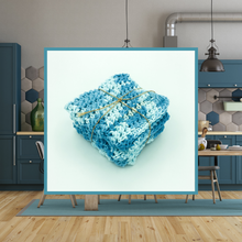 Load image into Gallery viewer, Crocheted Dishcloth Set - Elderberry