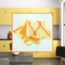 Load image into Gallery viewer, Crocheted Dishcloth Set - Fireside
