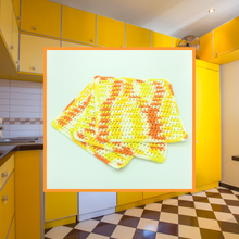 Load image into Gallery viewer, Crocheted Dishcloth Set - Firelight
