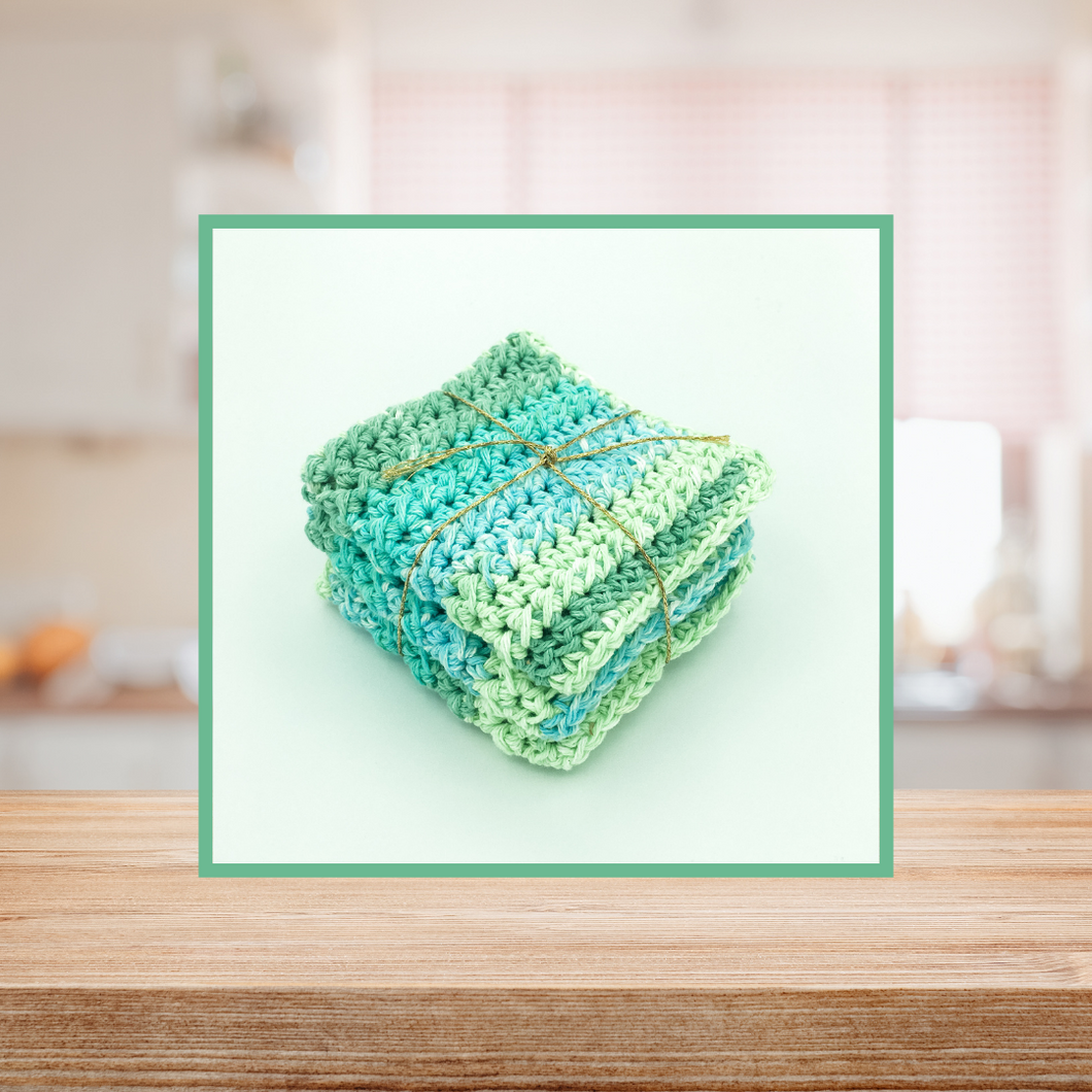 Crocheted Dishcloth Set - Wintergreen