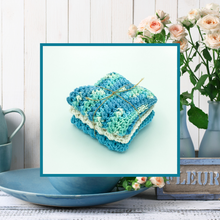 Load image into Gallery viewer, Crocheted Dishcloth Set - Blueberry
