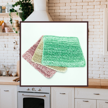 Load image into Gallery viewer, Crocheted Dishcloth Set - Stonewashed Trio