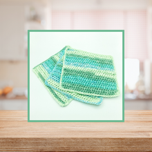 Load image into Gallery viewer, Crocheted Dishcloth Set - Wintergreen