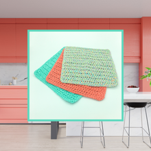 Load image into Gallery viewer, Crocheted Dishcloth Set - Mixed Melon