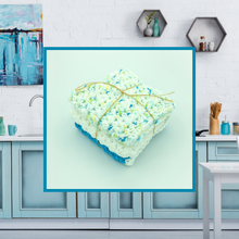 Load image into Gallery viewer, Crocheted Dishcloth Set - Aqua Gemstone