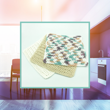Load image into Gallery viewer, Crocheted Dishcloth Set - Sandstone