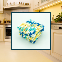 Load image into Gallery viewer, Crocheted Dishcloth Set - Lakeside Sunset