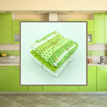 Load image into Gallery viewer, Crocheted Dishcloth Set - Key Lime
