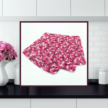 Load image into Gallery viewer, Crocheted Dishcloth Set - Raspberry