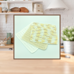 Crocheted Dishcloth Set - Lemonade