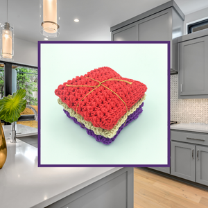 Crocheted Dishcloth Set - Brick and Mortar