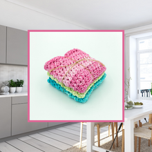 Load image into Gallery viewer, Crocheted Dishcloth Set - Pastel Stonewash