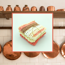Load image into Gallery viewer, Crocheted Dishcloth Set - Copper Kitchen