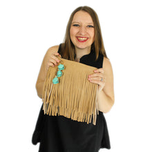 Load image into Gallery viewer, ZTrendy Fringed Crossbody Bag - Stone