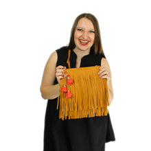 Load image into Gallery viewer, ZTrendy Fringed Crossbody Bag - Goldenrod