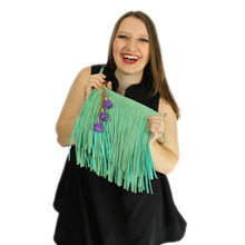 Load image into Gallery viewer, ZTrendy Fringed Crossbody Bag - Mint