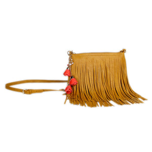 ZTrendy Fringed Crossbody Bag - Goldenrod