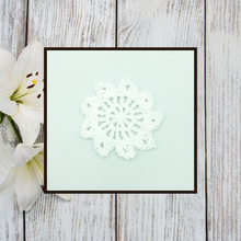 Load image into Gallery viewer, Crocheted Coaster Set - Lily White