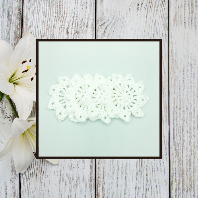 Crocheted Coaster Set - Lily White