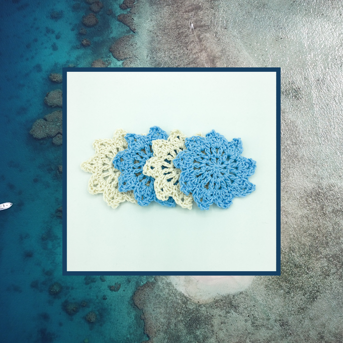 Crocheted Coaster Set - Ocean Sand