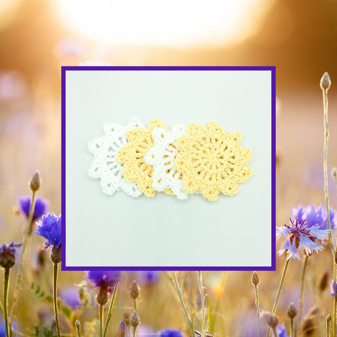 Crocheted Coaster Set - Sunlight