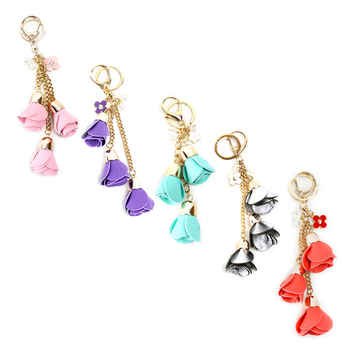 Rose Bag Charms  - 5 Colors