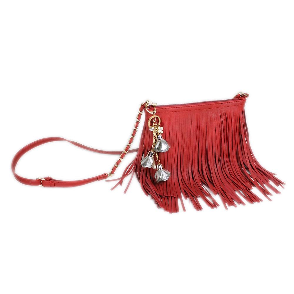 Trendy Fringed Crossbody Bag - 6 Colors