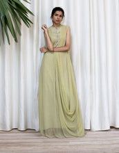 Load image into Gallery viewer, Georgette Cowl Drape Long Dress