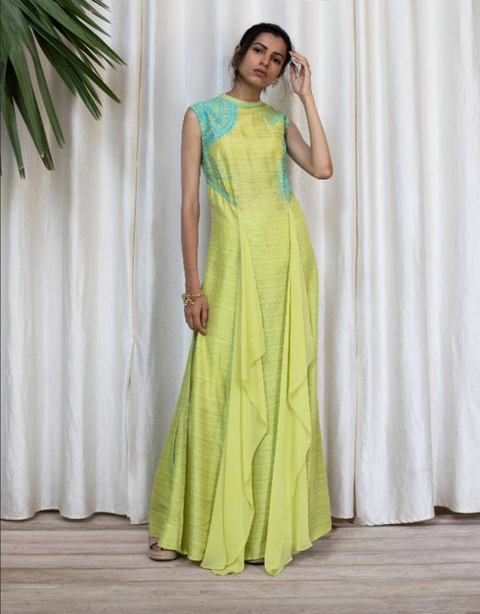 Neon Patterened Long Dress