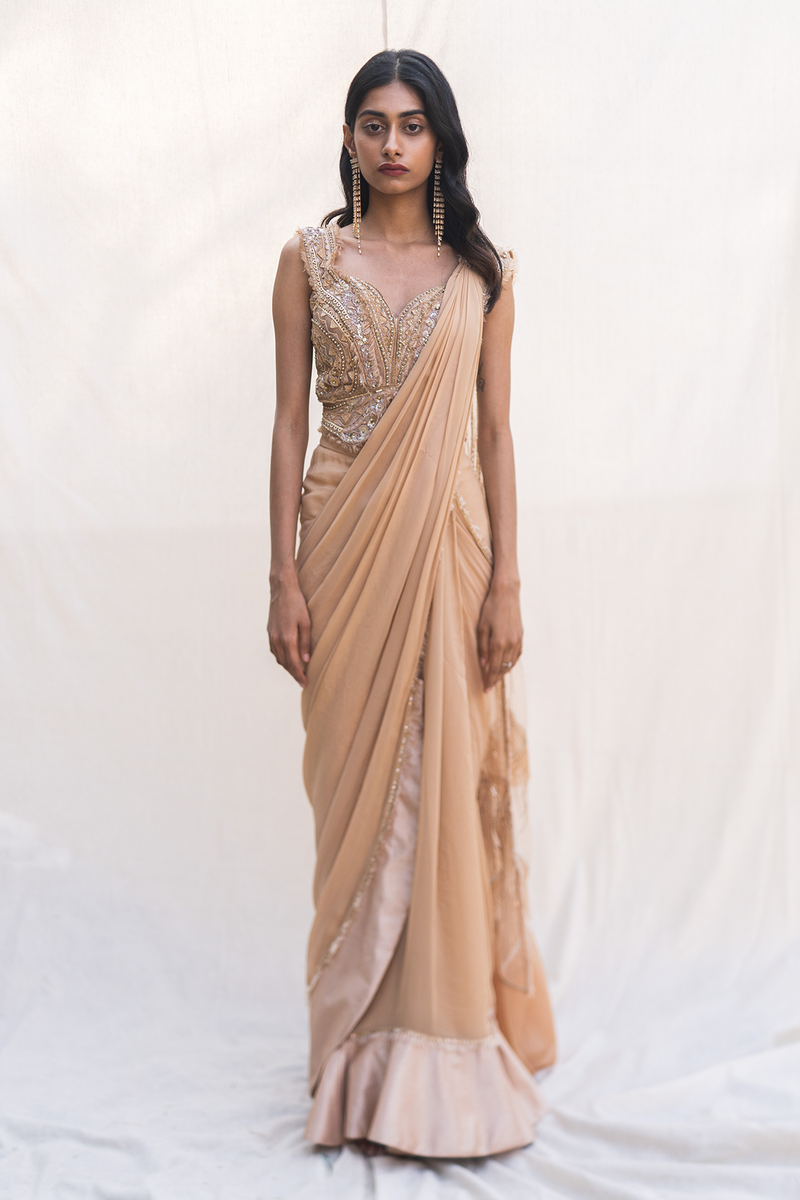 BISQUE DRAPED SAREE