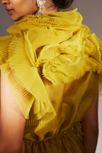Load image into Gallery viewer, Ivory Belt Dress (Mustard)
