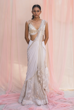 Load image into Gallery viewer, Georgette Saree in Ivory