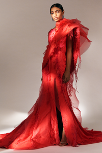 Classic Frilled Gown (Red)