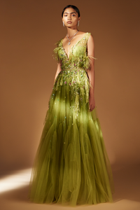 Claasic Gown (Lime Green)