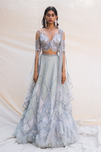 Load image into Gallery viewer, Ice-Blue Lehenga