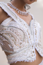 Load image into Gallery viewer, White Lehenga