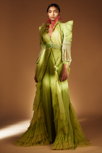 Load image into Gallery viewer, Lime Green Dress With Palazzo