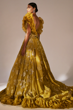 Load image into Gallery viewer, Mustard Trail Gown