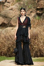 Load image into Gallery viewer, Embroidered Top with Layered Sharara Pants