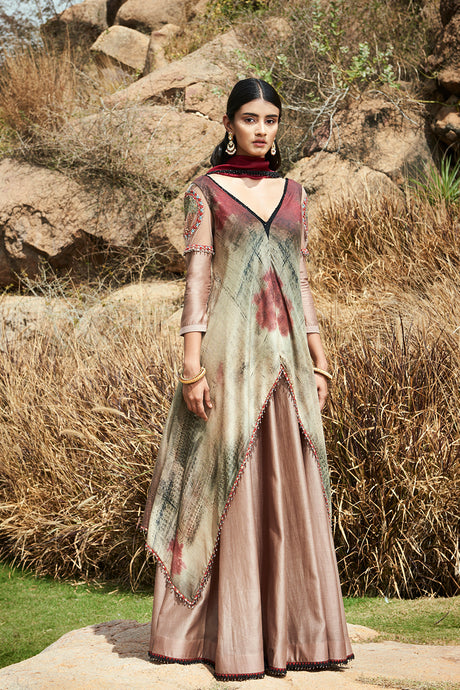 Printed Asymetric Anarkali