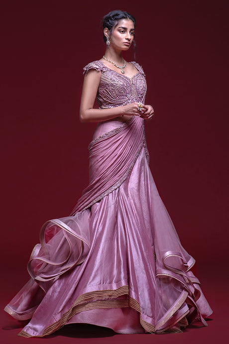 Fish Cut Purple Gown