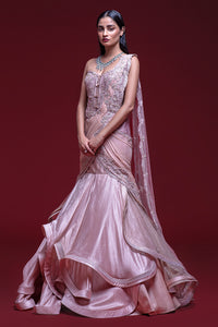 Draped Evening Gown