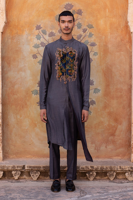 A-line Kurta with Floral Patch