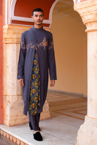 A-line Kurta with Floral Panel