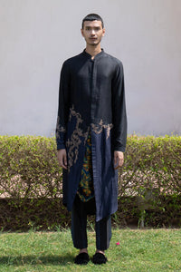 Thread Work Dual Toned Long Kurta Set
