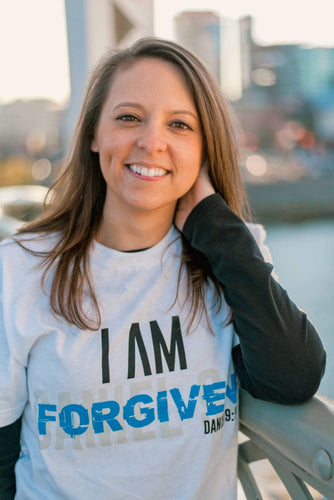 I AM Forgiven Shirt (White) - Vision Apparel Inc.