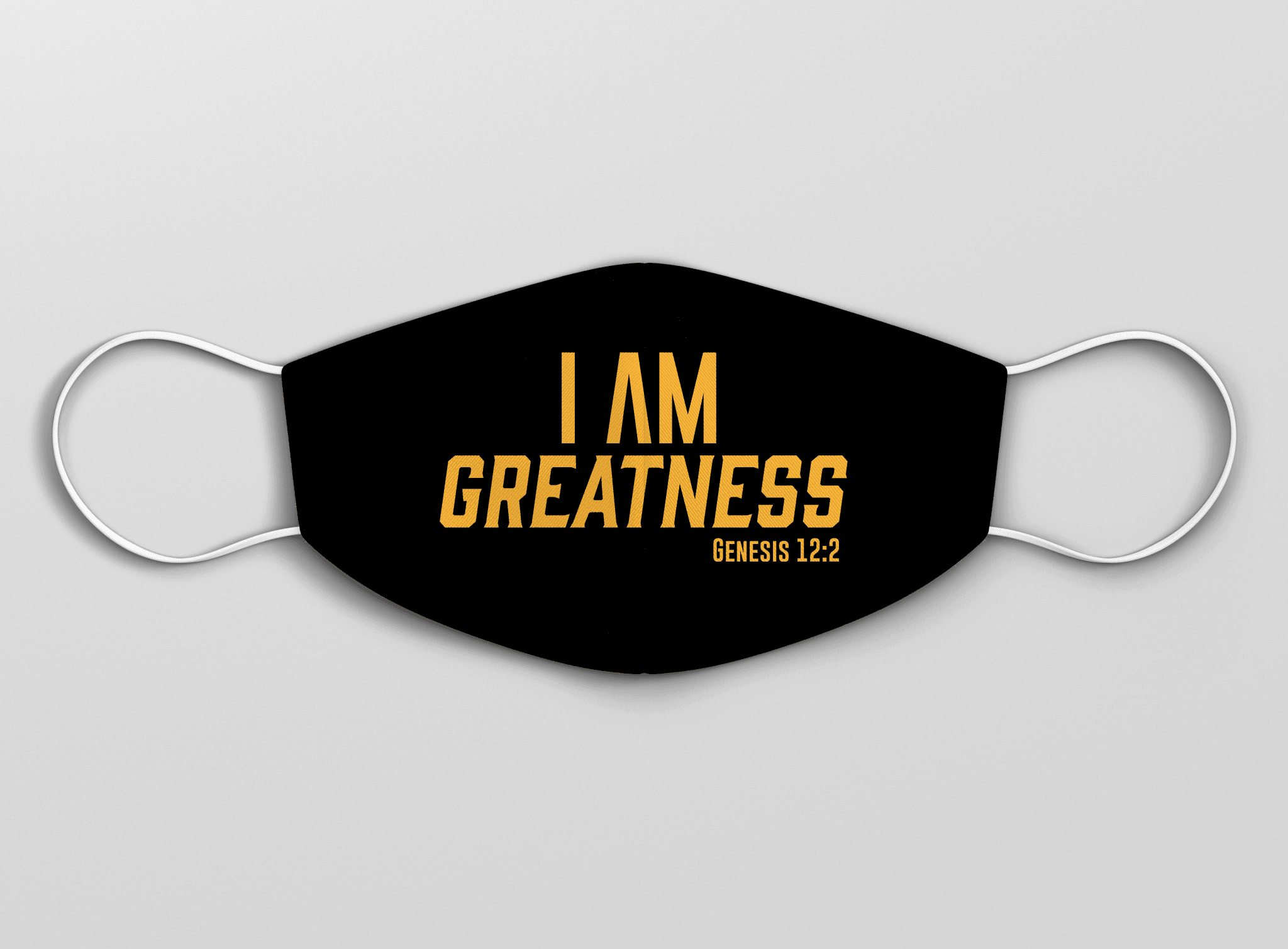 I AM Greatness Mask (Black & Gold) - Vision Apparel Inc.