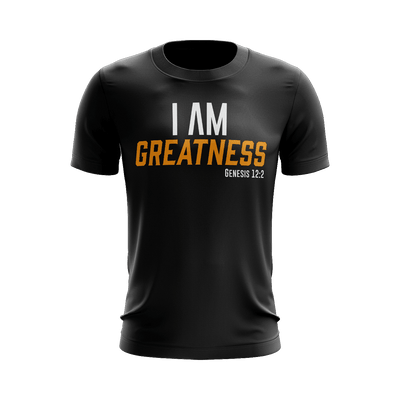 I AM Greatness Shirt (Black) - Vision Apparel Inc.
