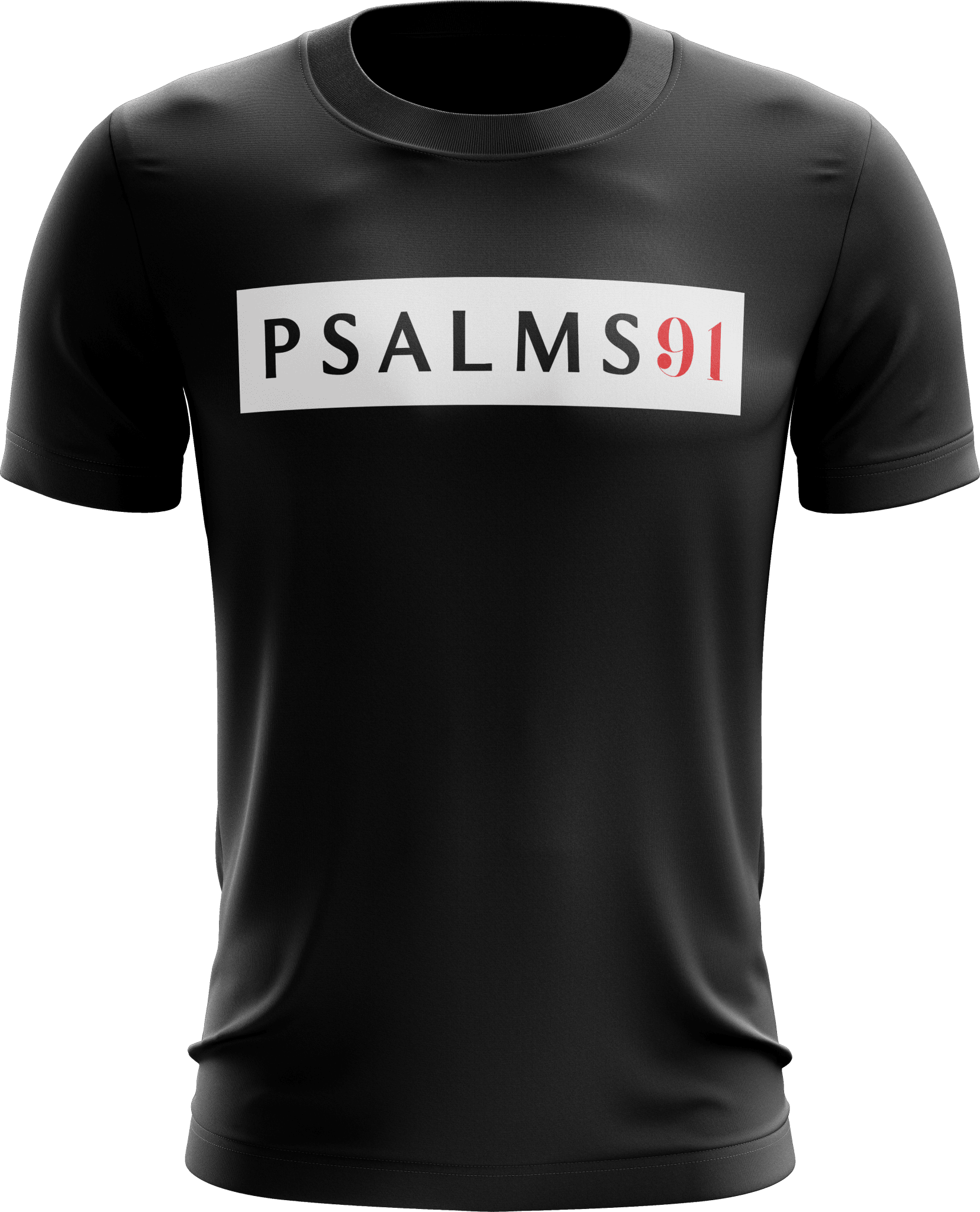 Psalms 91 Shirt (Black) - Vision Apparel Inc.